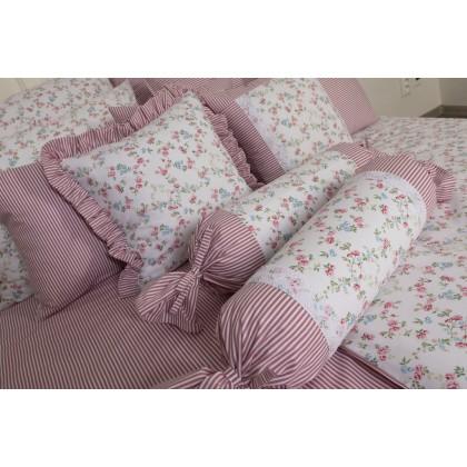 Posteľné obliečky Viviane/ružový prúžok