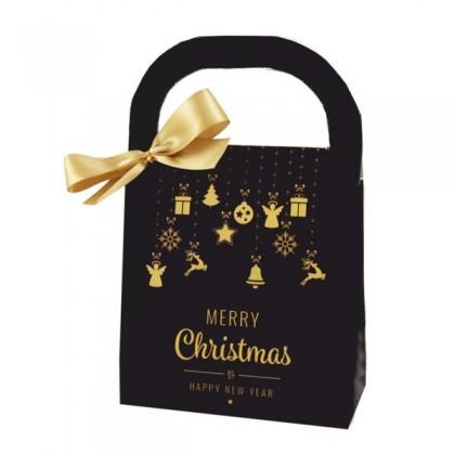 Zlaté Vianoce darčeková taška
