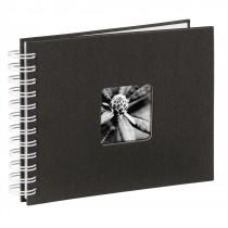 Hama album klasický špirálový FINE ART 24x17 cm, 50 strán, čierna, biele listy