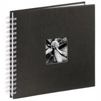 Hama album klasický špirálový FINE ART 28x24 cm, 50 strán, čierna, biele listy