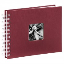 Hama album klasický špirálový FINE ART 24x17 cm, 50 strán, bordová, biele listy