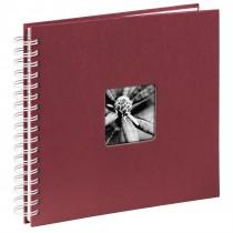 Hama album klasický špirálový FINE ART 28x24 cm, 50 strán, bordová, biele listy