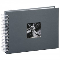 Hama album klasický špirálový FINE ART 24x17 cm, 50 strán, šedý, biele listy