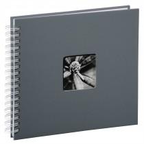 Hama album klasický špirálový FINE ART 28x24 cm, 50 strán, šedý, biele listy