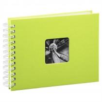 Hama album klasický špirálový FINE ART 24x17 cm, 50 strán, kivi, biele listy