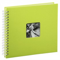 Hama album klasický špirálový FINE ART 28x24 cm, 50 strán, kivi, biele listy