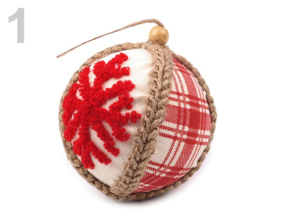 7579e6084 Dekoračná, závesná vianočná guľa