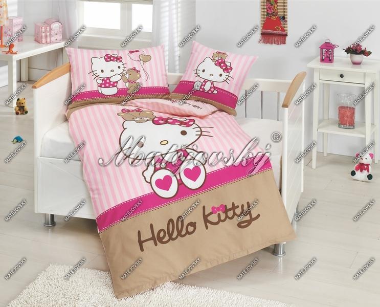 ![CDATA[Matějovský Posteľné obliečky Hello Kitty a medvedík ]]